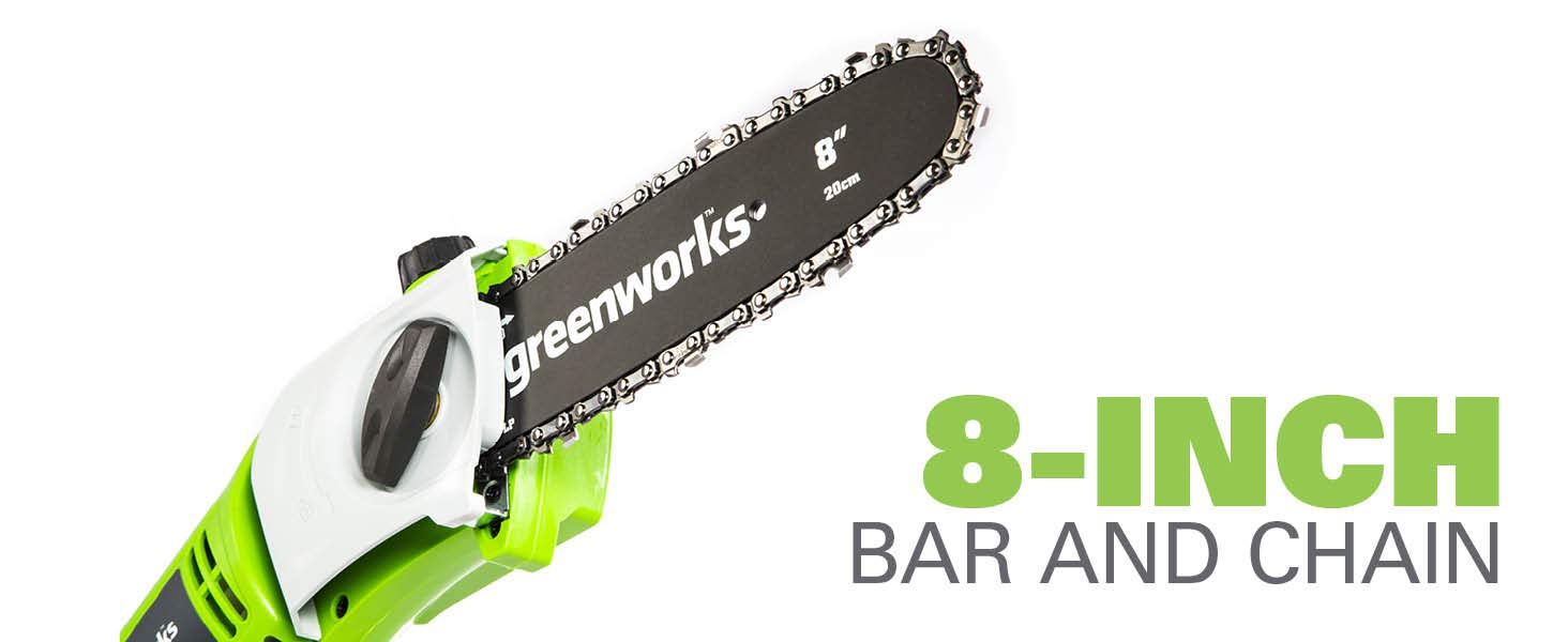 GreenWorks 20192 8-Inch Corded Pole Saw