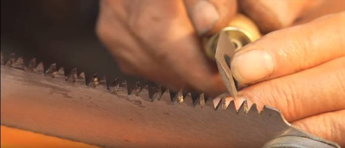 how to sharpen s pole saw blade